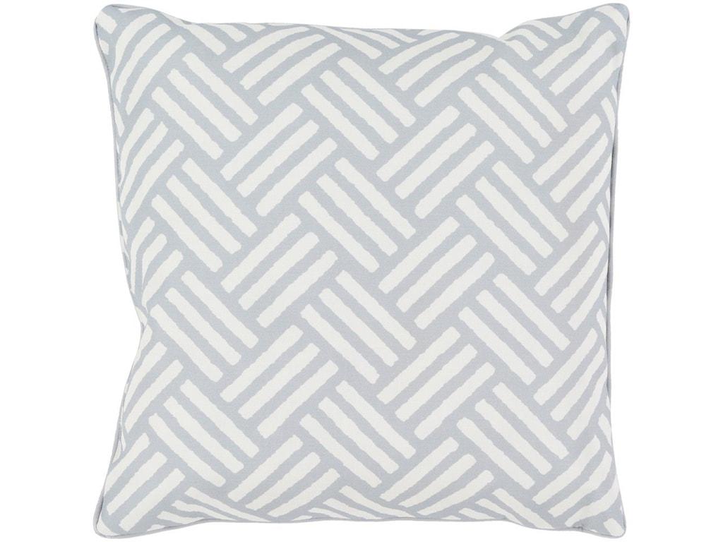 Surya Basketweave16 x 16 x 4 Polyester Throw Pillow