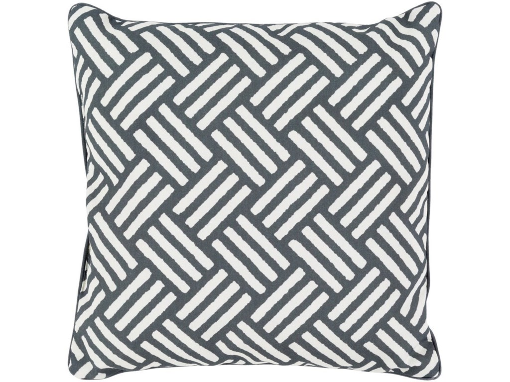 Surya Basketweave20 x 20 x 4 Polyester Throw Pillow