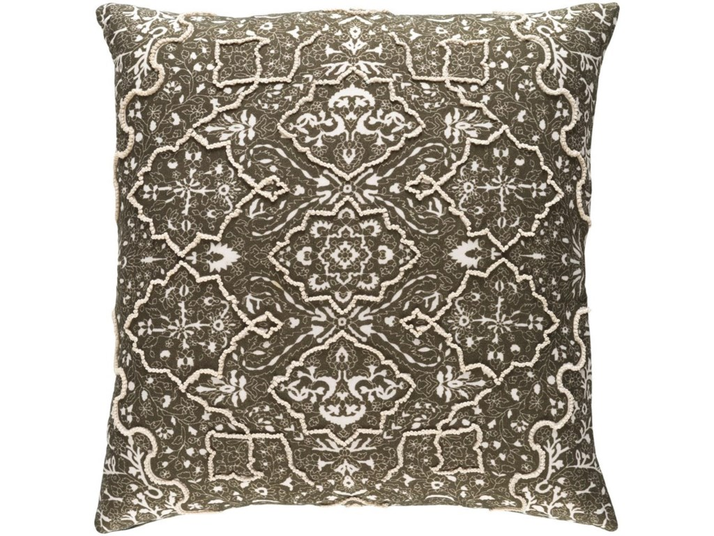 Surya Batik18 x 18 x 4 Down Pillow Kit