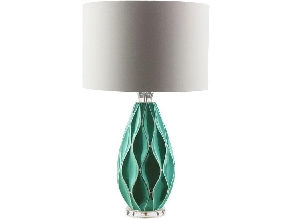 Surya BethanyTeal Modern Table Lamp