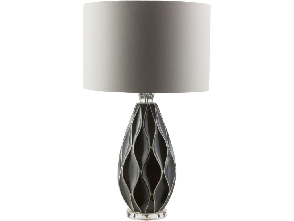 Surya BethanyGrey Modern Table Lamp