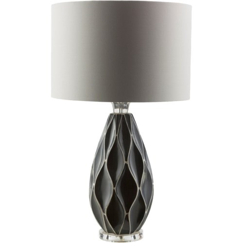 Surya bethany grey modern table lamp