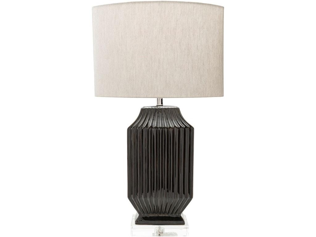 Surya BlacklakeGlazed Glam Table Lamp