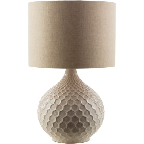 Surya blakely cream table lamp