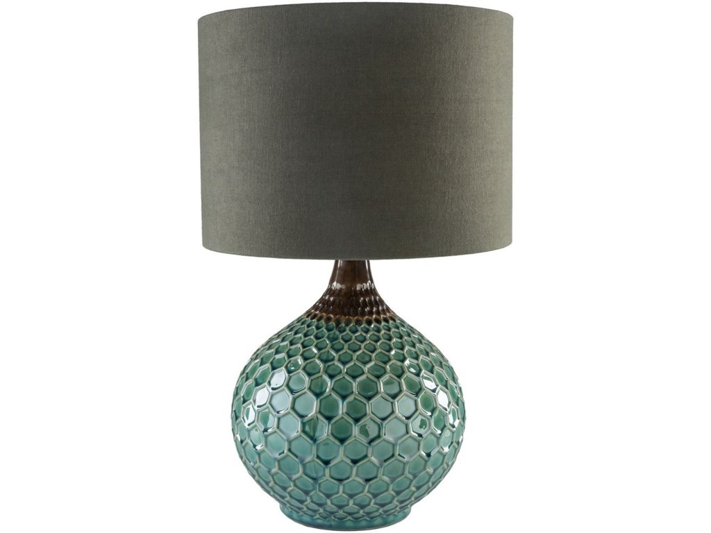 Surya BlakelyDark Green Table Lamp