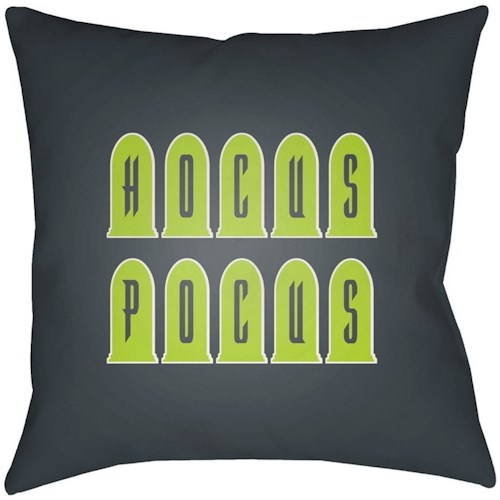 Surya Boo 18 x 18 x 4 Polyester Throw Pillow