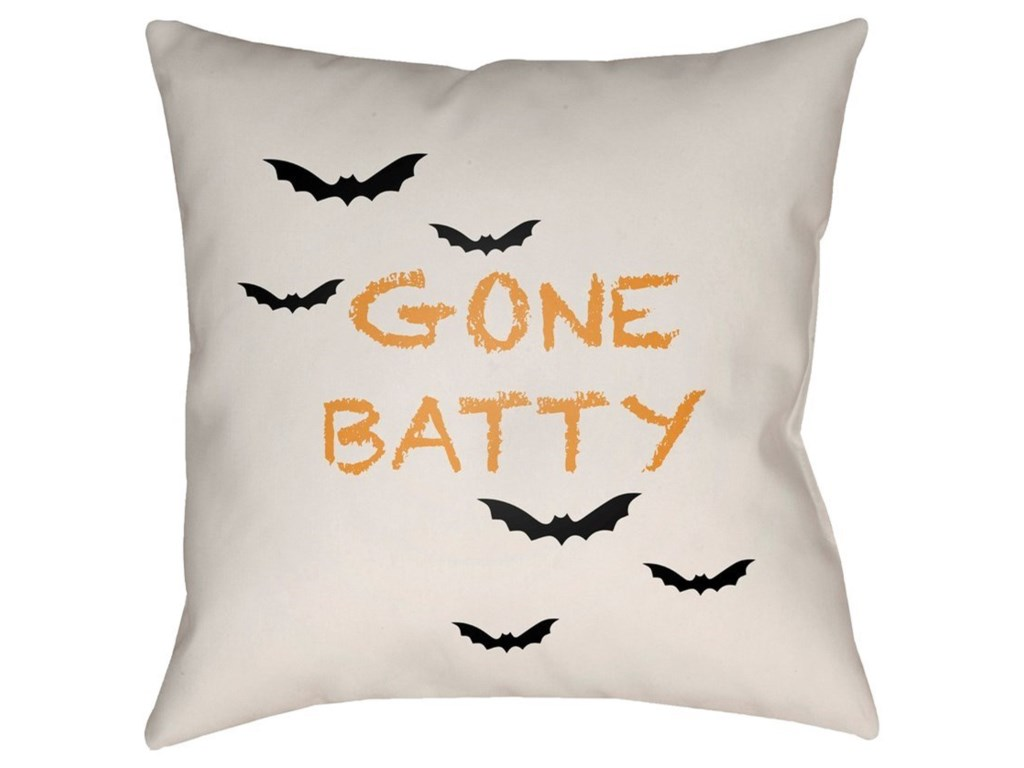 Surya Boo18 x 18 x 4 Polyester Throw Pillow