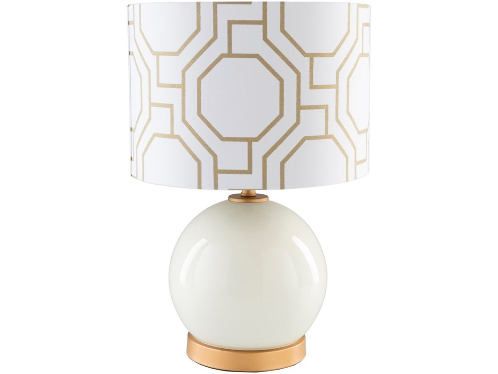9596 BowenSolid White Modern Table Lamp