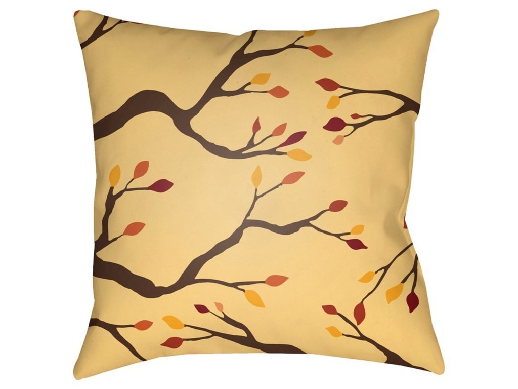 Surya Branches18 x 18 x 4 Polyester Throw Pillow