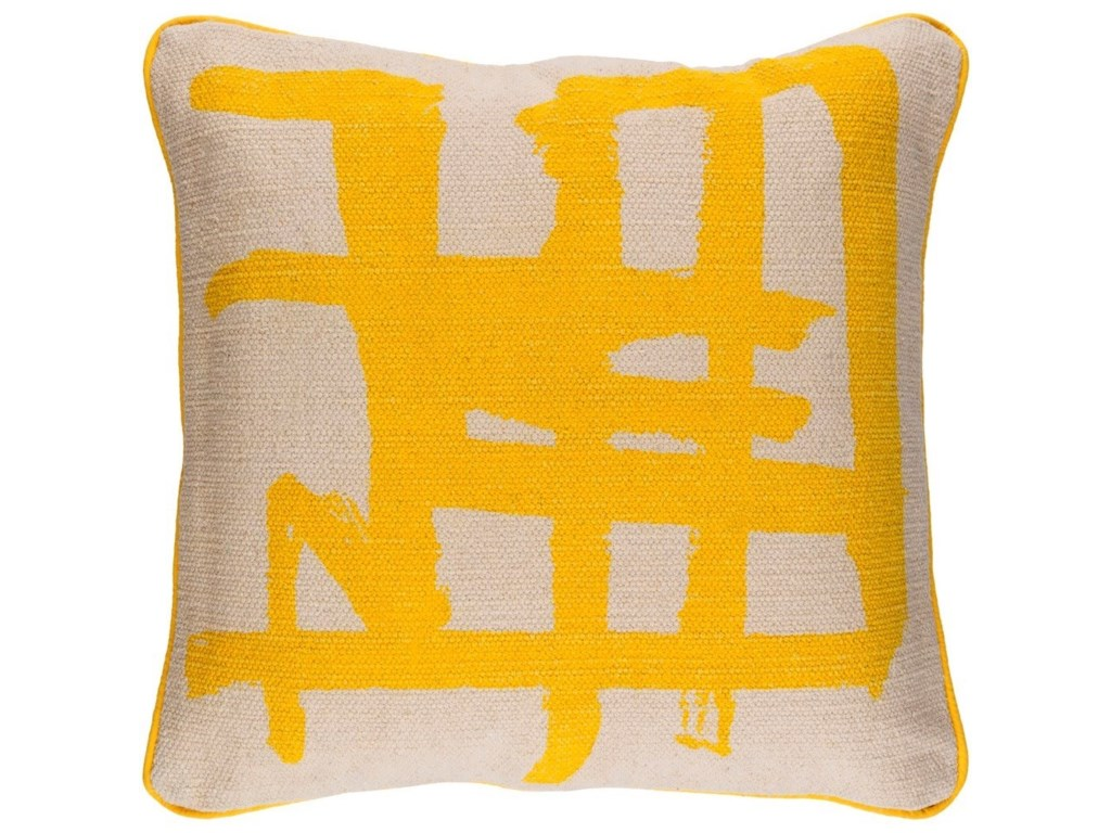 Surya Bristle20 x 20 x 4 Polyester Throw Pillow