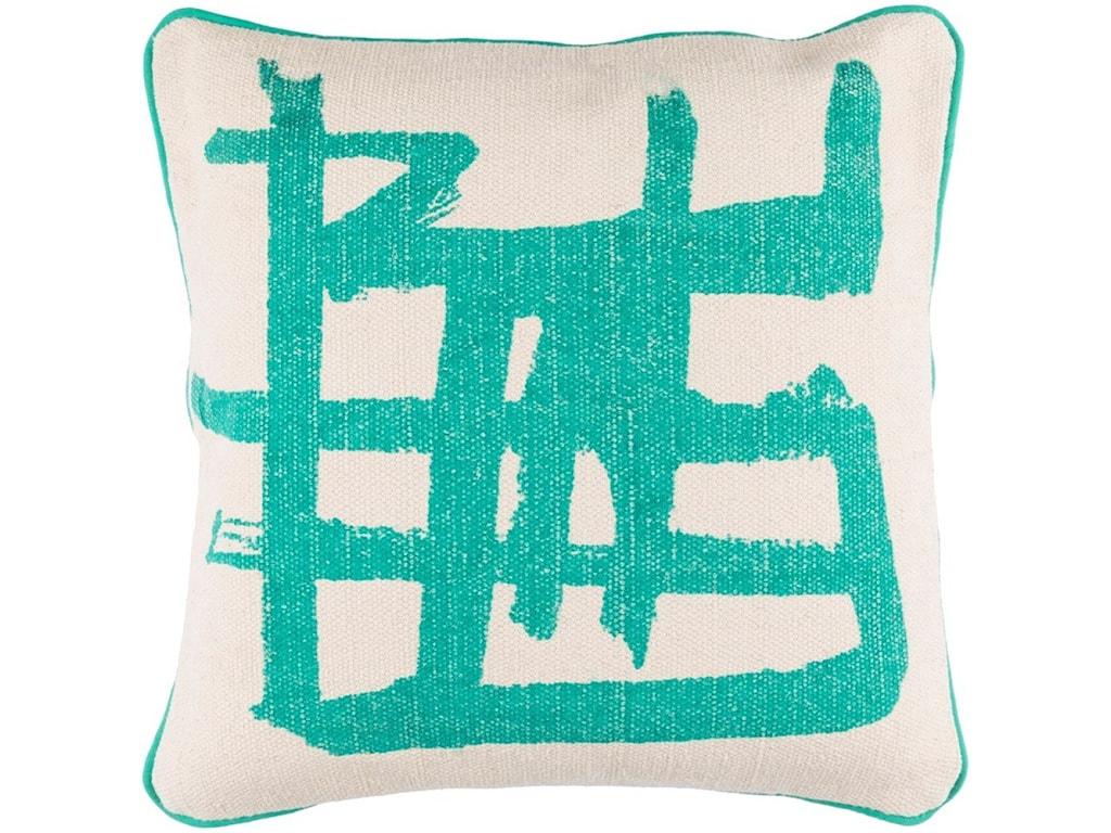 Surya Bristle20 x 20 x 4 Down Throw Pillow