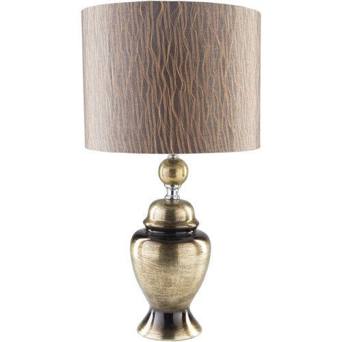 Surya caldwell metallic gold traditional table lamp