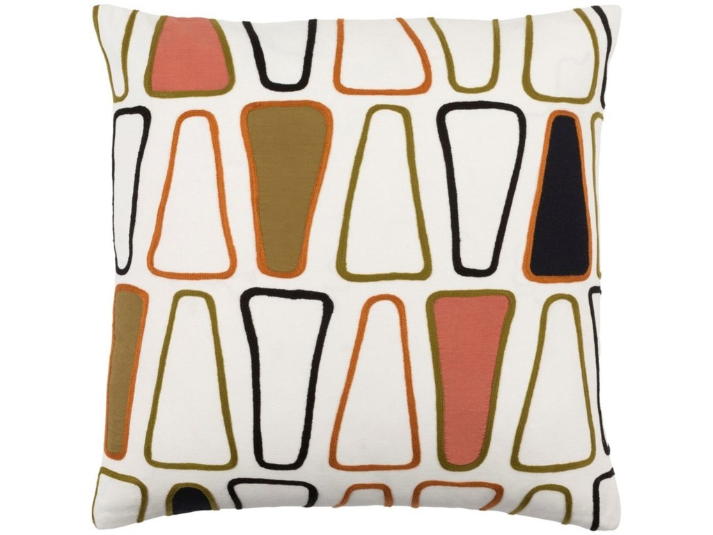 Surya Charade22 x 22 x 5 Polyester Throw Pillow