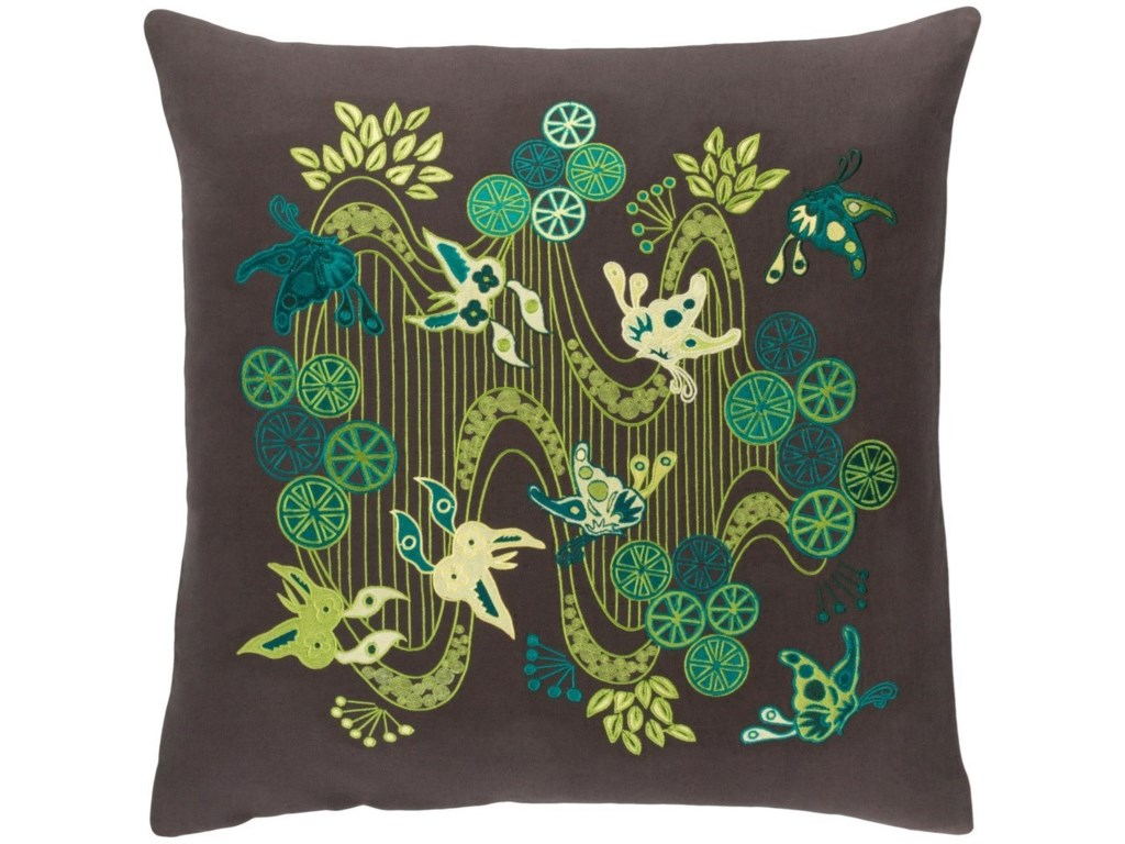 Surya Chinese River20 x 20 x 4 Polyester Throw Pillow