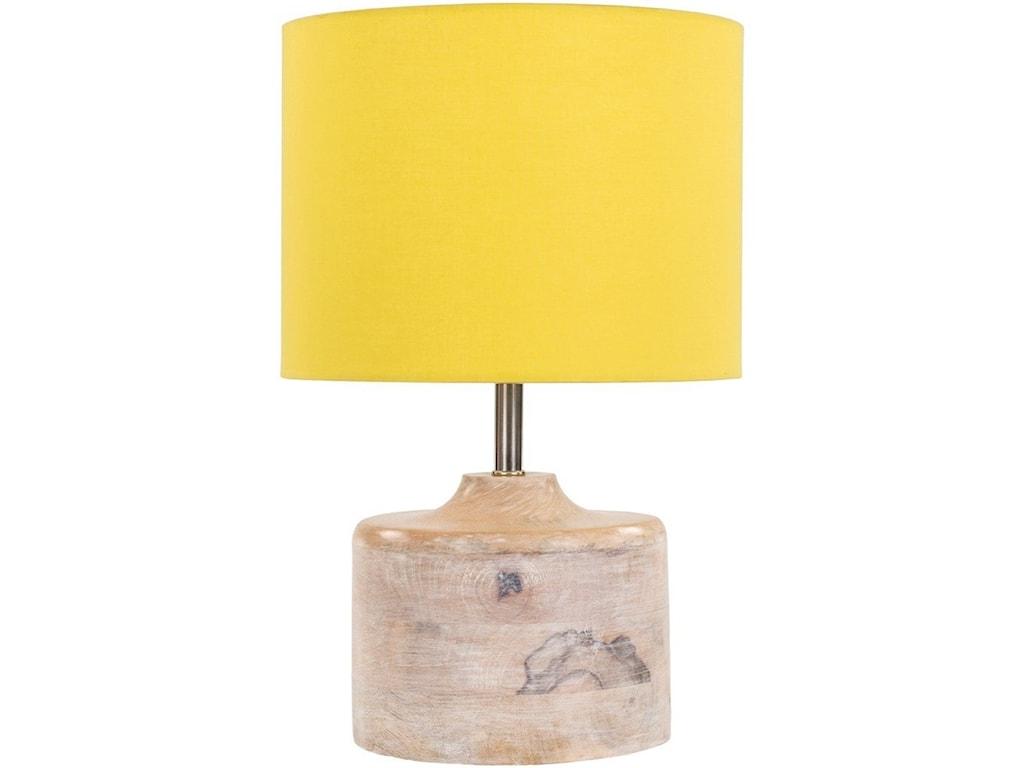 Surya CoastNatural Finish Contemporary Table Lamp