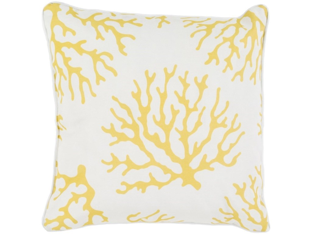 Surya Coral20 x 20 x 4 Polyester Throw Pillow
