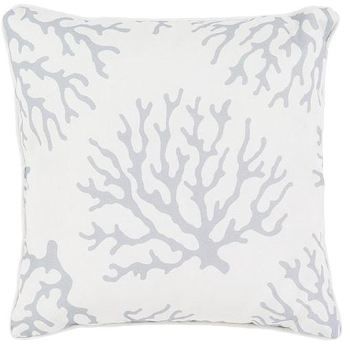 Surya Coral 20 x 20 x 4 Polyester Throw Pillow