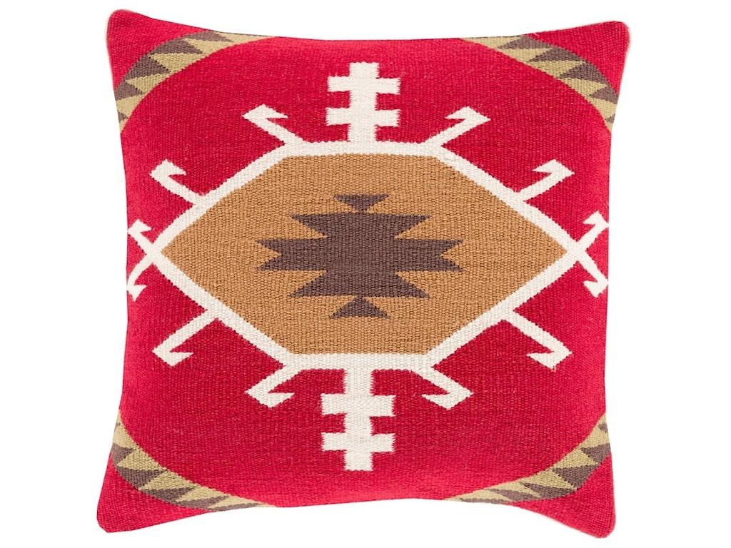Surya Cotton Kilim20 x 20 x 4 Down Throw Pillow