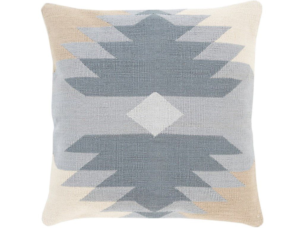 Surya Cotton Kilim22 x 22 x 5 Down Throw Pillow