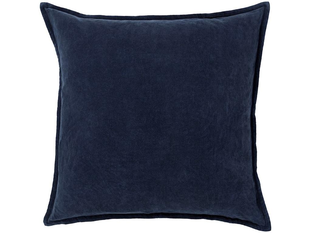 Surya Cotton Velvet20 x 20 x 4 Down Throw Pillow