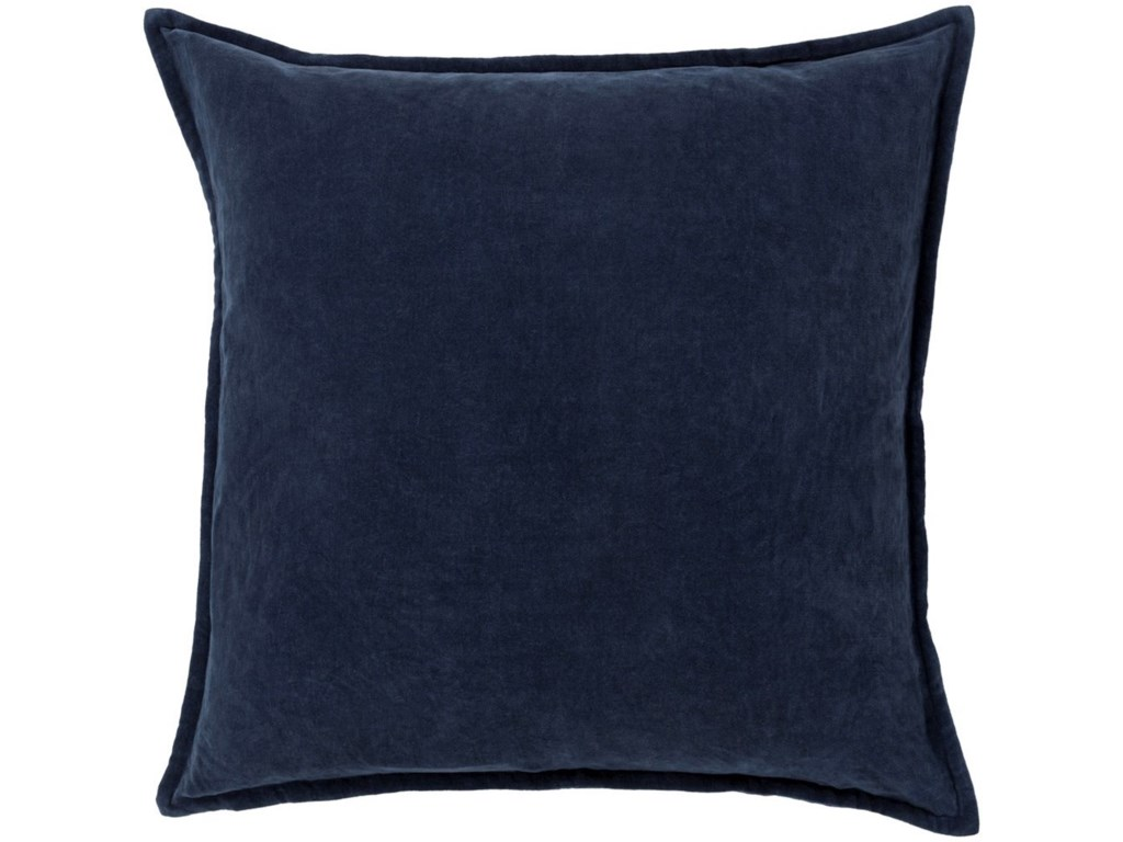 Surya Cotton Velvet22 x 22 x 5 Down Throw Pillow