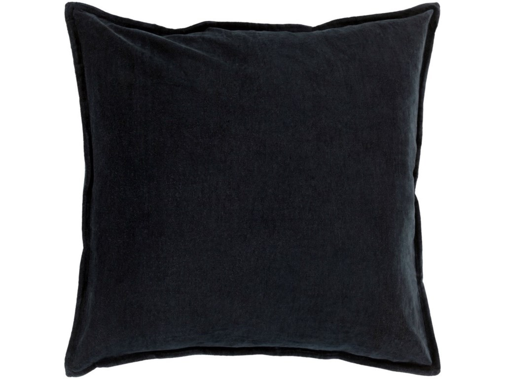 Surya Cotton Velvet18 x 18 x 4 Down Throw Pillow
