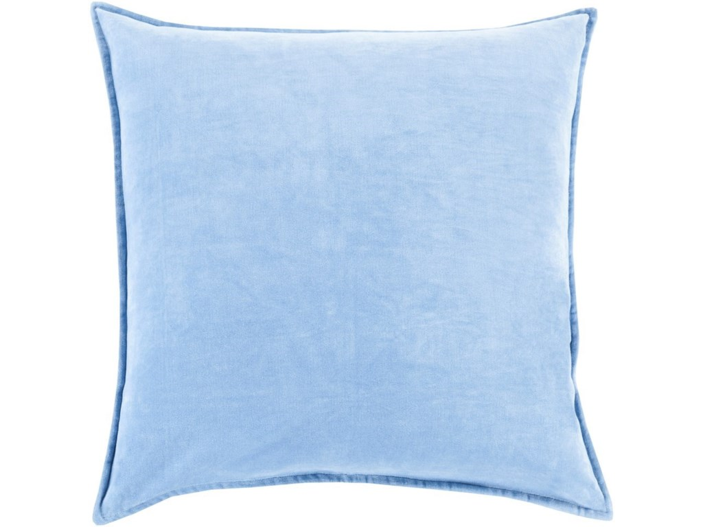 Surya Cotton Velvet20 x 20 x 4 Down Throw Pillow