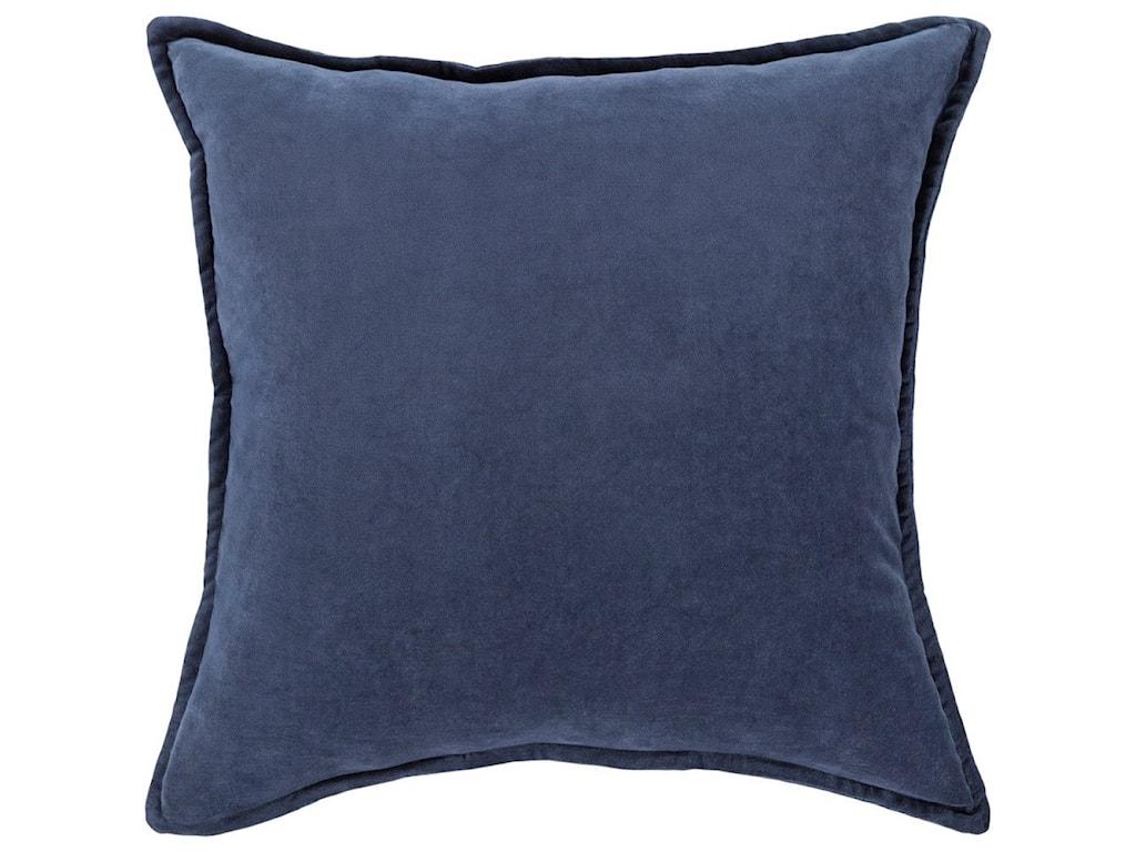 Surya Cotton Velvet18 x 18 x 4 Down Throw Pillow