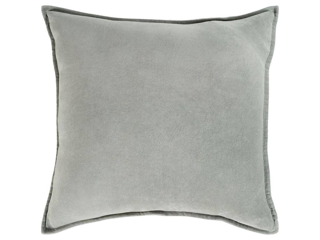 Surya Cotton Velvet13 x 19 x 4 Down Lumbar Pillow