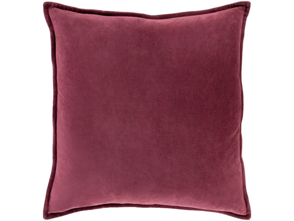 Surya Cotton Velvet22 x 22 x 5 Down Throw Pillow