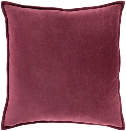 Surya Cotton Velvet 22 x 22 x 5 Down Throw Pillow