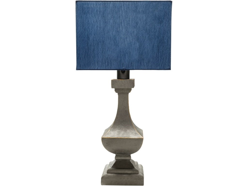 Surya DavisAntique Pewter Modern Table Lamp