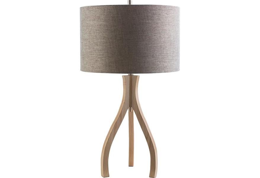 Surya Duxbury Natural Wood Contemporary Floor Lamp Houston S Yuma Furniture Floor Lamps