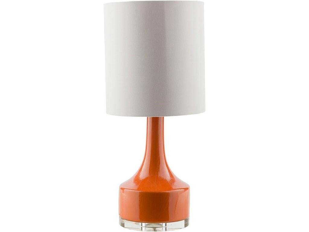 Farris Orange Modern Table Lamp By Surya