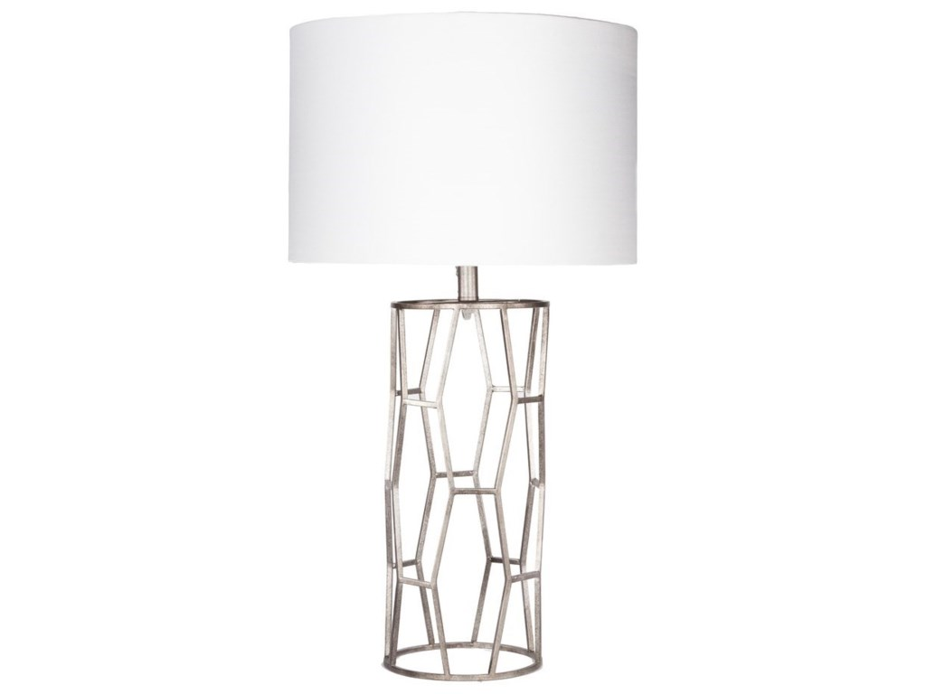 Ruby-Gordon Accents GavinAntiqued Silvertone Glam Table Lamp