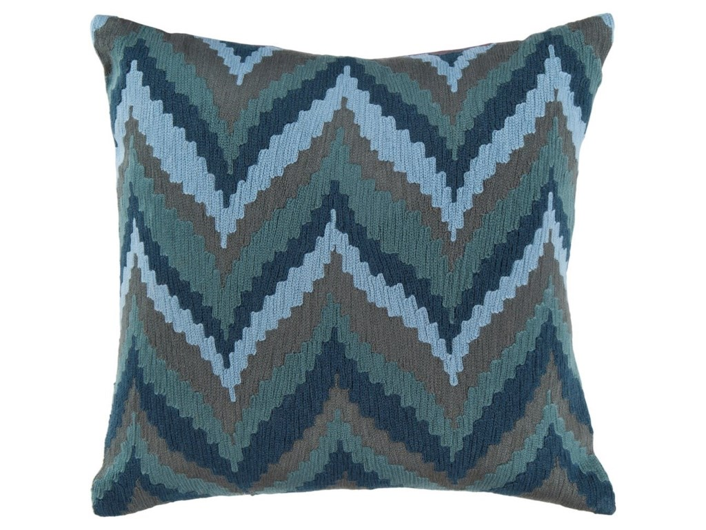 Surya Ikat Chevron22 x 22 x 5 Down Throw Pillow