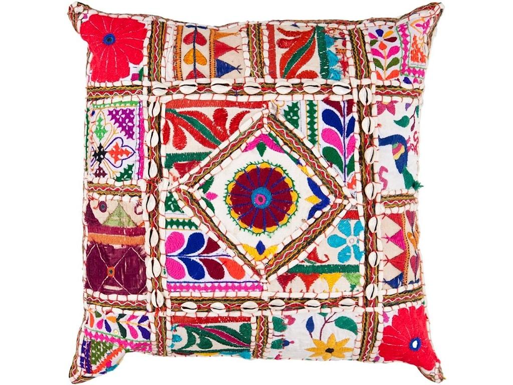 Surya Karma18 x 18 x 4 Down Throw Pillow