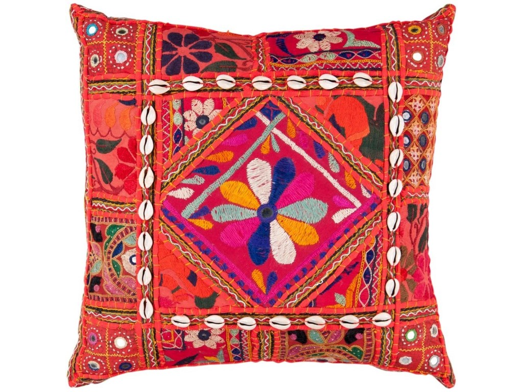 Surya Karma18 x 18 x 4 Down Throw Pillow