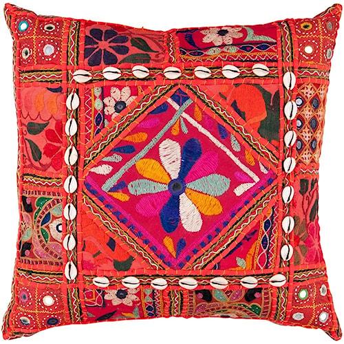 Surya Karma 18 x 18 x 4 Down Throw Pillow