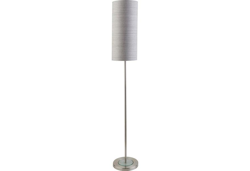 Surya Kyoto Brushed Nickel Modern Floor Lamp Houston S Yuma Furniture Floor Lamps
