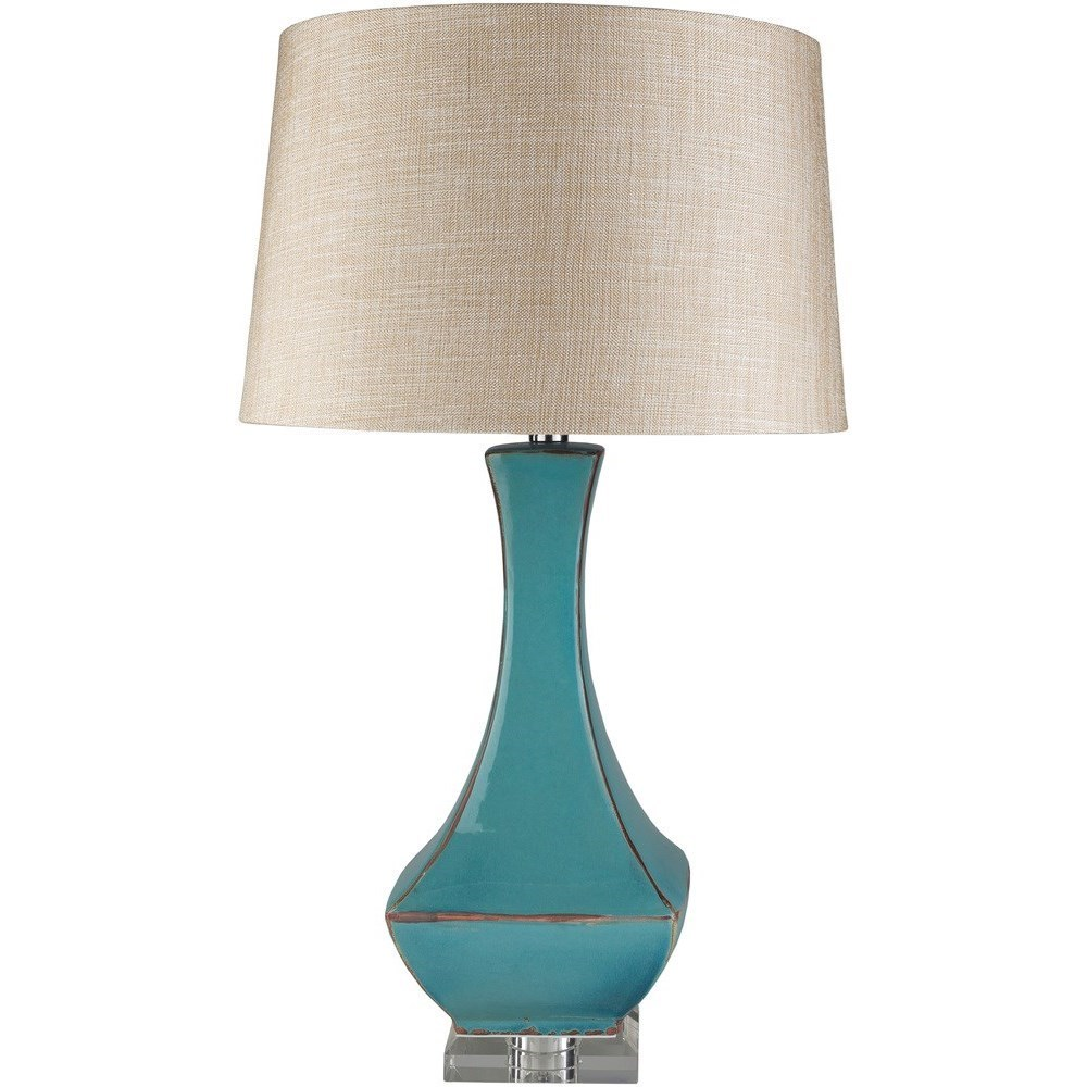 Surya Lamps Turquoise Reactive Glaze Modern Table Lamp