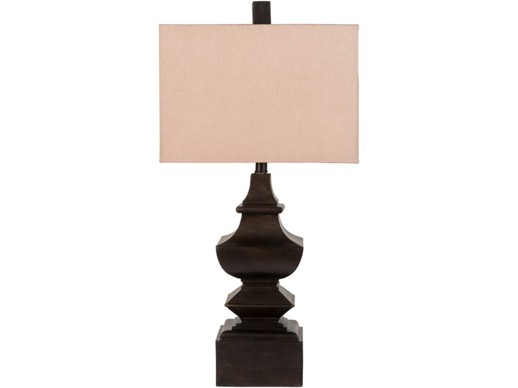 Surya LampsAged Bronze Traditional Table Lamp