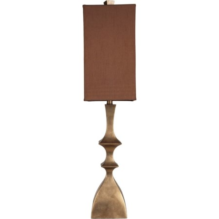 Aged Goldtone Traditional Table Lamp