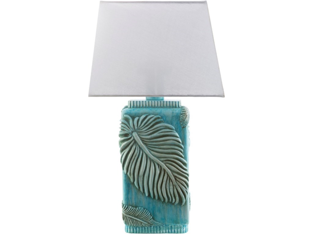 Surya lana aqua coastal table lamp royal furniture table lamps geotapseo Images