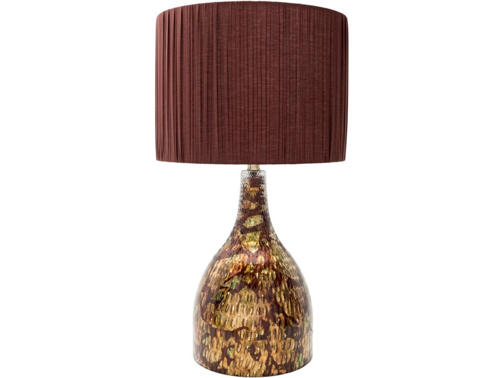 9596 LewisPainted Mission/Shaker Table Lamp