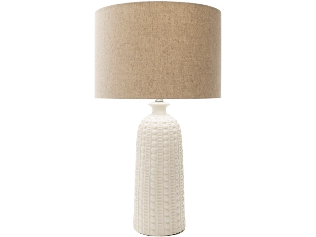 Surya Newell Glazed Coastal Table Lamp