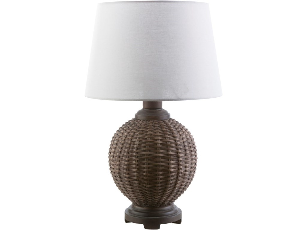 Surya raven ran770 tbl faux rattan coastal table lamp hudsons surya ravenfaux rattan coastal table lamp mozeypictures Image collections