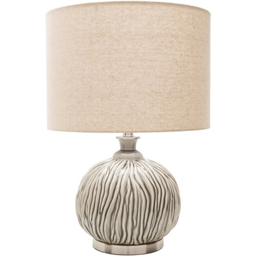 Surya rosa glazed global table lamp