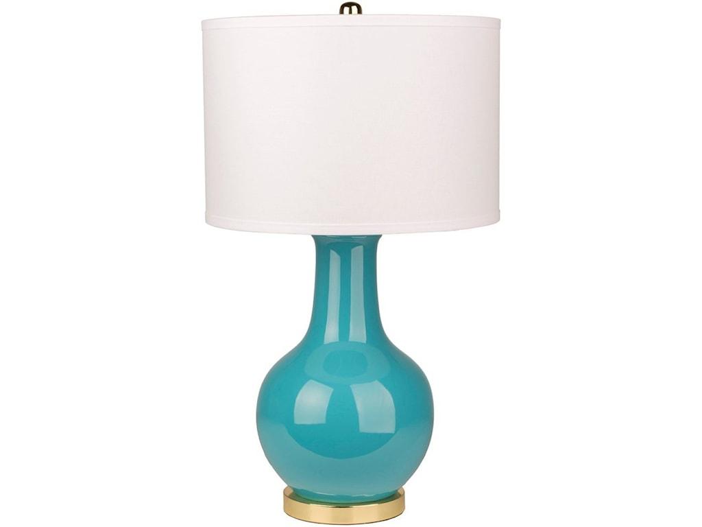 Surya SallyGlazed Contemporary Table Lamp