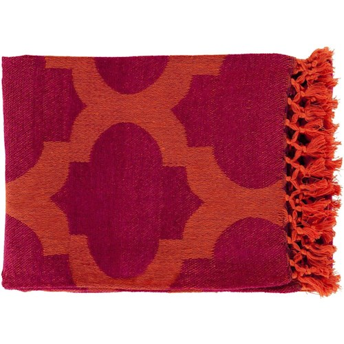 Surya Throw Blankets Trellis 50